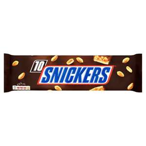 Mix & Match Snickers 10 x 35.5g (355g) 2 for £3 @ Iceland