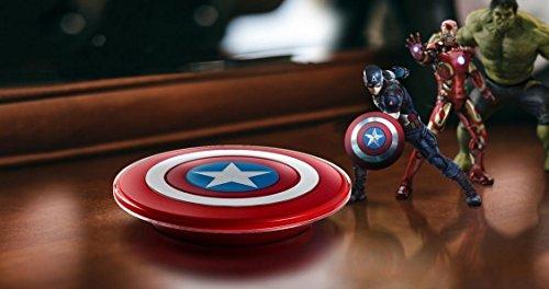 Wireless Qi Charging Pad Plate Docking Station - Captain America Shield £5.87 prime / £10.36 non prime  @ Amazon