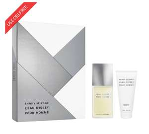 ISSEY MIYAKE L'EAU D'ISSEY POUR HOMME M Eau De Toilette 75ml & 100ml SGel Gift Set @ BeautyBase for  £30 Plus Free delivery with code DELFREE