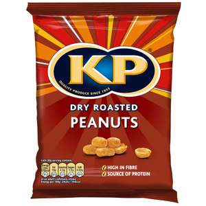 KP Dry/Salted Roasted Peanuts 200g £1.00  ANY 2 for £1.50 in Store @ B&M