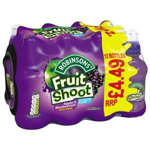 Robinsons Fruit Shoot Apple & Blackcurrant 12 x 200ml In Store at B&M £2.50