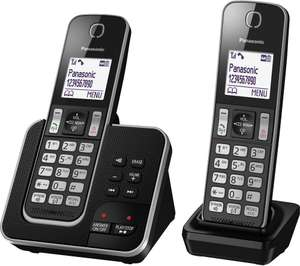 PANASONIC KX-TGD322EB Cordless Phone with Answering Machine - Twin Handsets @ Currys - £14.97