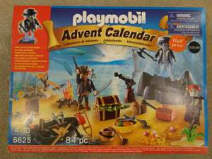 Half Price Playmobil 6625 Advent Calendar 'Pirate Treasure Island' with Glowing Effect Pirate @ Waterstones
