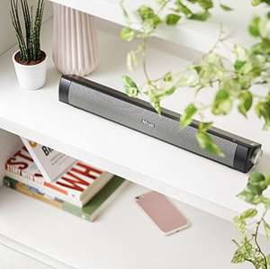Trust Lino Wireless Soundbar Bluetooth Speaker for Computer, Laptop, TV, Tablet and Smartphone, 20 W - Black £19 Prime (£4.49 delivery) @ Amazon