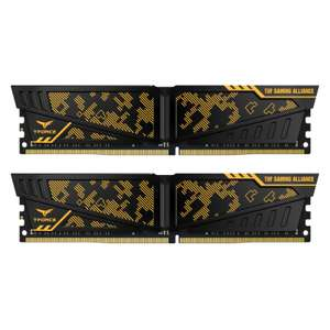 TEAM GROUP VULCAN TUF GAMING ALLIANCE 16GB (2X8GB) DDR4 PC4-24000C16 3000MHZ DUAL CHANNEL KIT at Overclockers for £119.99
