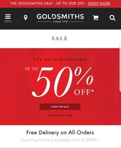 Goldsmiths upto 50% off sale on watches and Jewelry