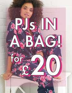 Boux Avenue PJs In A Bag £20 each + 10% off or £10 off when you spend £50