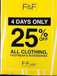 Tesco F+F 25% Sale Off All Clothes starts Thursday 27th September