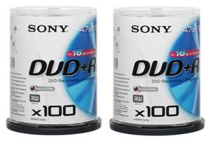 200 Sony DVD+Rs £35.98 (18p Each) @ WHSmiths Clearance (Free Delivery)