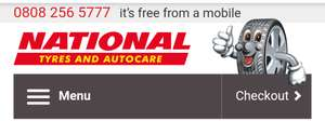 Dunlop 225/45/17 91 W tyres - £76.47 @ National Tyres & Autocare