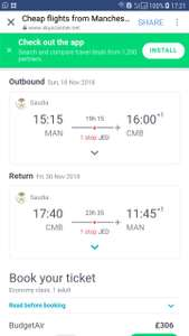 Manchester, UK to Colombo, Sri Lanka for only £306 roundtripOn Saudi Airlines - Nov/Dec 2018
