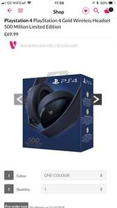 PS4 headset limited edition - £69.99 @ Very - Pre-Order for 11/10/18