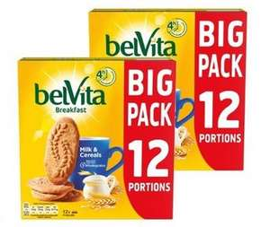 Belvita breakfast 2 x 12 portions (24 packs) £3.39 instore @ Costco warehouse