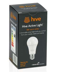 Hive Smart Light Bulbs - All 25% Off @ Screwfix (Ends Midnight Today)