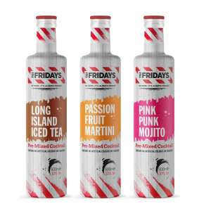 TGI Fridays pre-mixed 500ml cocktails Long Island Iced tea, Passion Fruit Martini & Pink Punk Mojito £6 @ Tesco