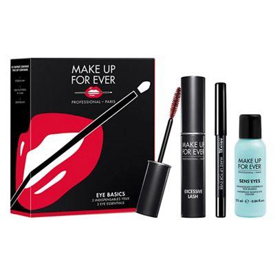 MAKE UP FOR EVER - 'Eye Basics' make up gift set (inc mascara worth £20) £11.70 instore / online Delivered w/code @ Debenhams (+ Triple Points)