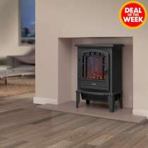 Electric LED Log Effect Fire Stove 2kw Black now £34.99 Delivered Next Day with code @ JTF