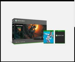 Xbox one X with shadow of tomb raider, fifa 19 with extra controller and  game only £439 (£339 using Amex card) at Microsoft Store