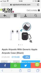Apple AirPods £119.69 @ eGlobal central