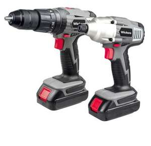Wickes 18V Li-ion 1.3Ah Cordless Hammer Drill & Impact Driver Twin Kit + 1 Hr Charger & 2 Year Guarantee  £71.30 W/ Code SEPT218 @ Wickes Clearance (Free C&C)