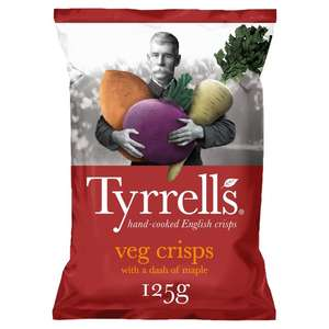 Tyrrells Mixed Root Veg with Maple 125g 60p @ Heron Foods