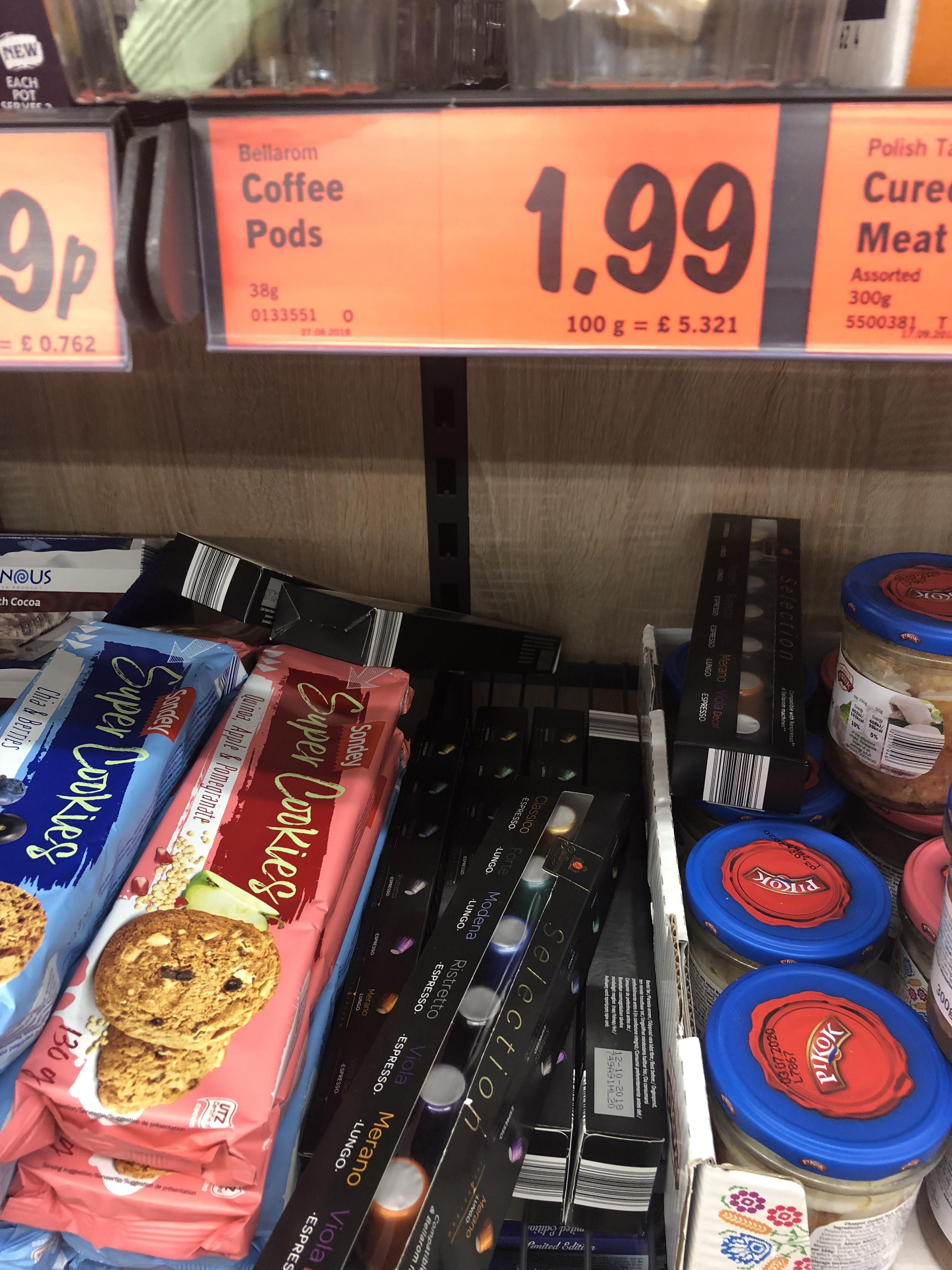Nespresso compatible coffee pods BOGOF £1.99 @ Lidl