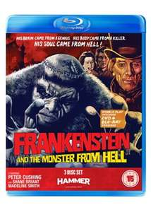 Frankenstein And The Monster From Hell : 3 Disc Set (Dual Format) (2 DVD + Blu-ray) £4.99 delivered @ Base