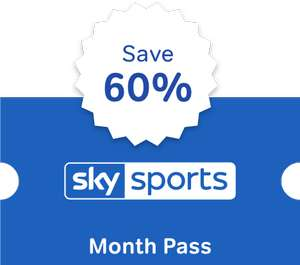 Get a Sky Sports Month Pass for just £12.99, saving 60% (Subscription cancellation required) @ NOW TV