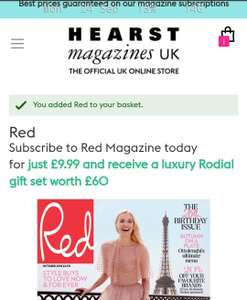 Subscribe to Red Magazine £9.99 and receive a luxury Rodial gift set worth £60
