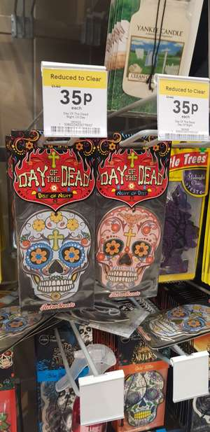 Sugar skull car air freshener Tesco (Dundee) 35p