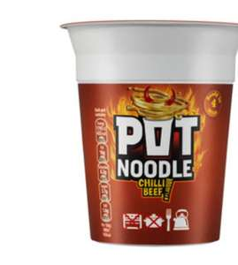 pot noodles 9 varieties all rolled back asda deals - 50p each (instore & online)