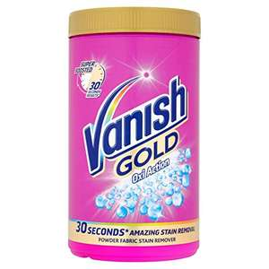 1.35 kg Vanish Gold Stain Remover Powder  £5.70 (S&S) @ Amazon
