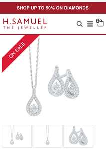 9ct White Gold 1/3ct Diamond Earrings & Pendant Set £399.20 with the extra 20% off today down from £999 at H Samuel Plus get 2% Quidco!