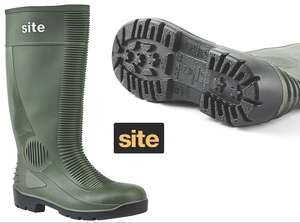 Site Trench Safety Wellies W/ Steel Toe-Caps & Steel Midsole - Available In Sizes 7, 8, 9 £9.99 @ Screwfix Clearance (Free C&C)