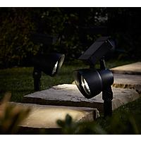 Set of 4 Solar Spot Lights W/ Built-in Light Sensors £2 @ Asda George (Free C&C)