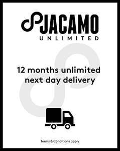 12 months unlimited no minimum spend next day delivery pass for £4.95 instead of £9.95 @ Jacamo