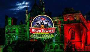 Half term stay 2 adults 2 kids inc 2 days park tickets, entry to Scarefest, early ride tickets, 1 night hotel & breakfast from £143 / £36pp @ Alton Towers Holidays