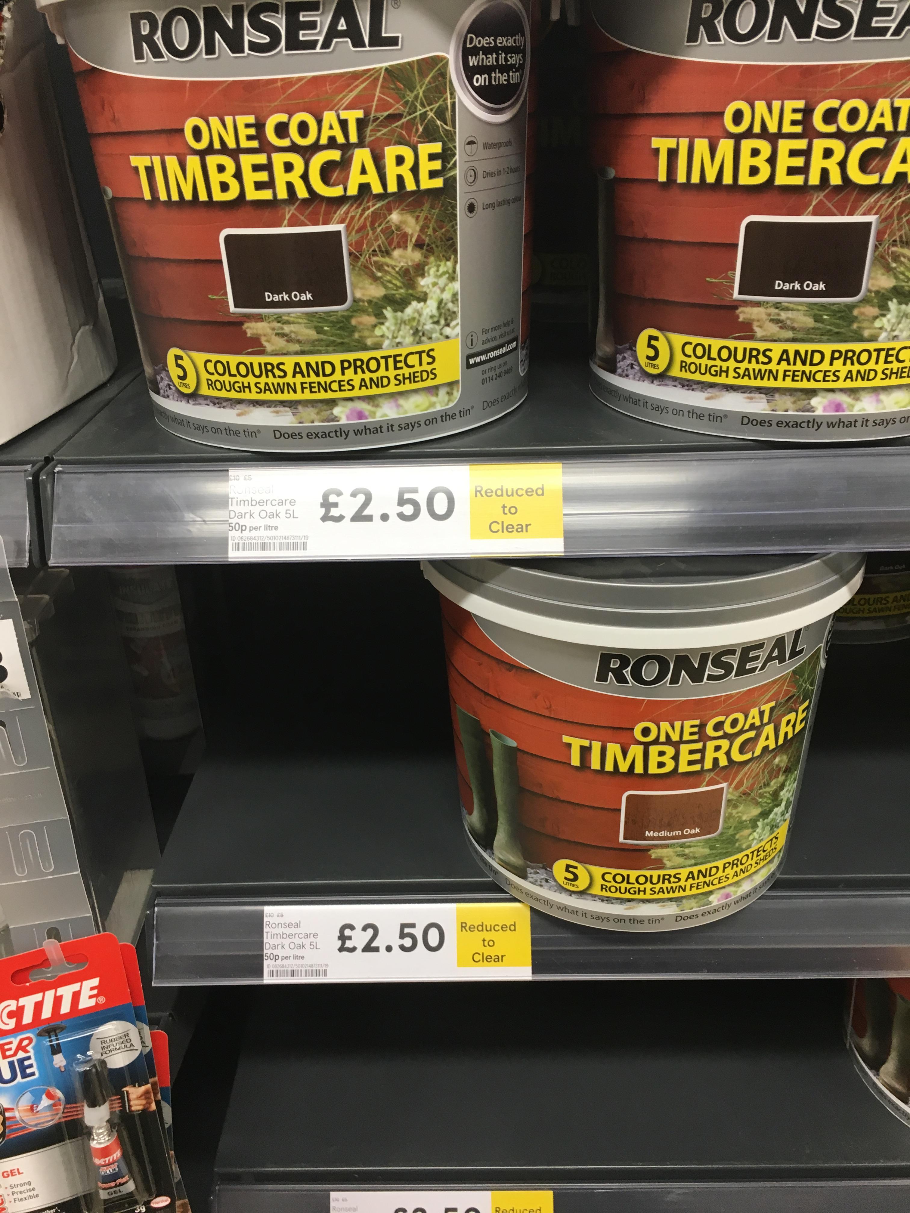 Ronseal one coat timber seal £2.50 @ Tesco - Thanet