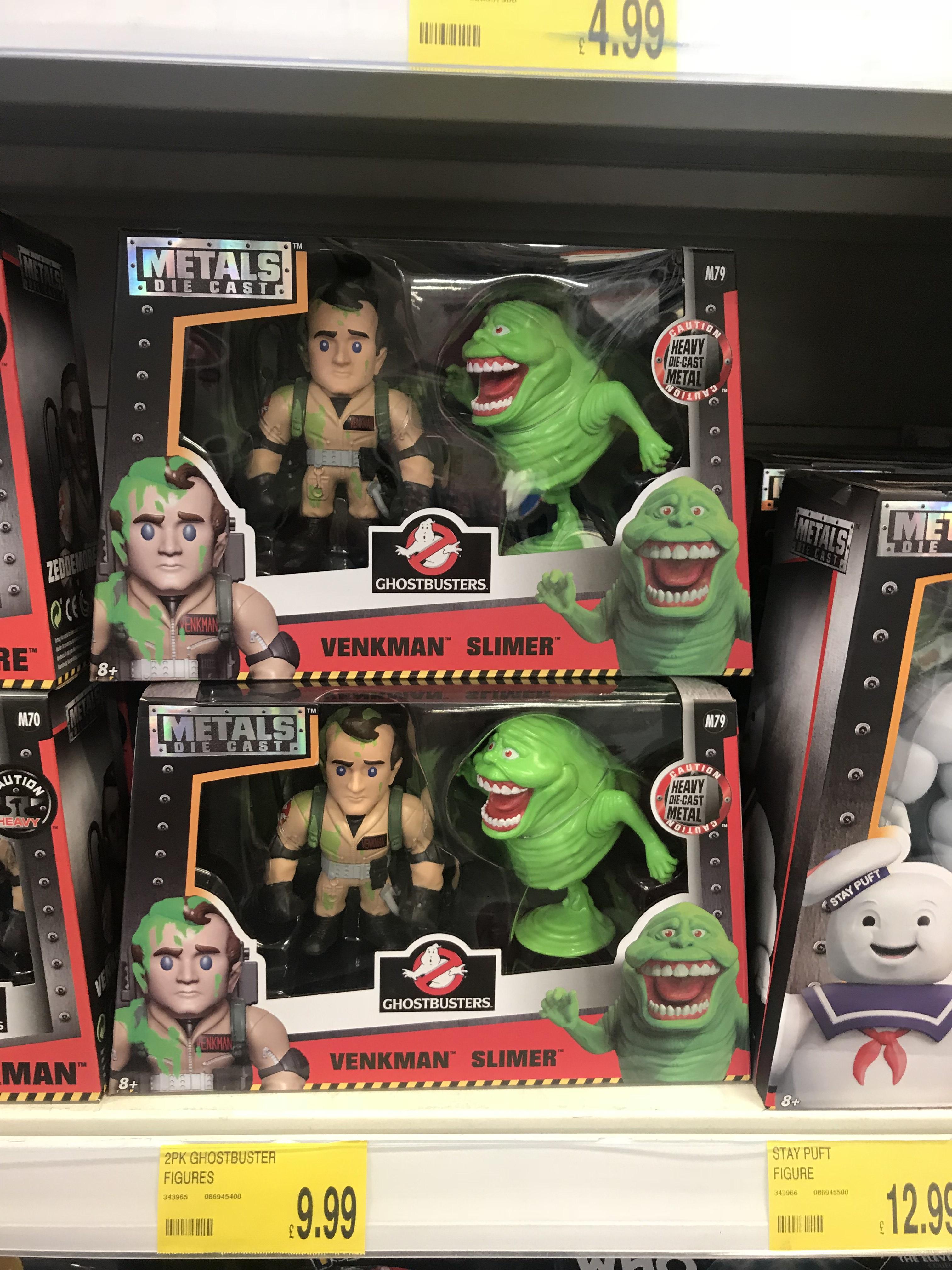 Ghostbusters (and Suicide Squad) Metal Die Cast Figures B&M Bargains Altrincham