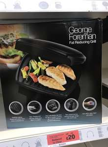 George Foreman Grill £20 @ Sainsbury's (Hornchurch)