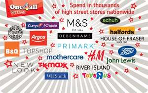 6.5% off one4all gift cards with free standard delivery
