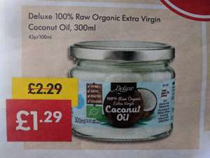 Lidl Raw Organic Extra Virgin Coconut Oil 300ml this WEEKEND! £1.29