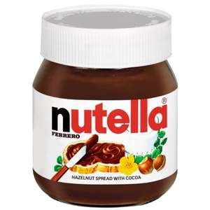 Nutella Hazelnut Chocolate Spread 400g Only £1.99 @ B&M