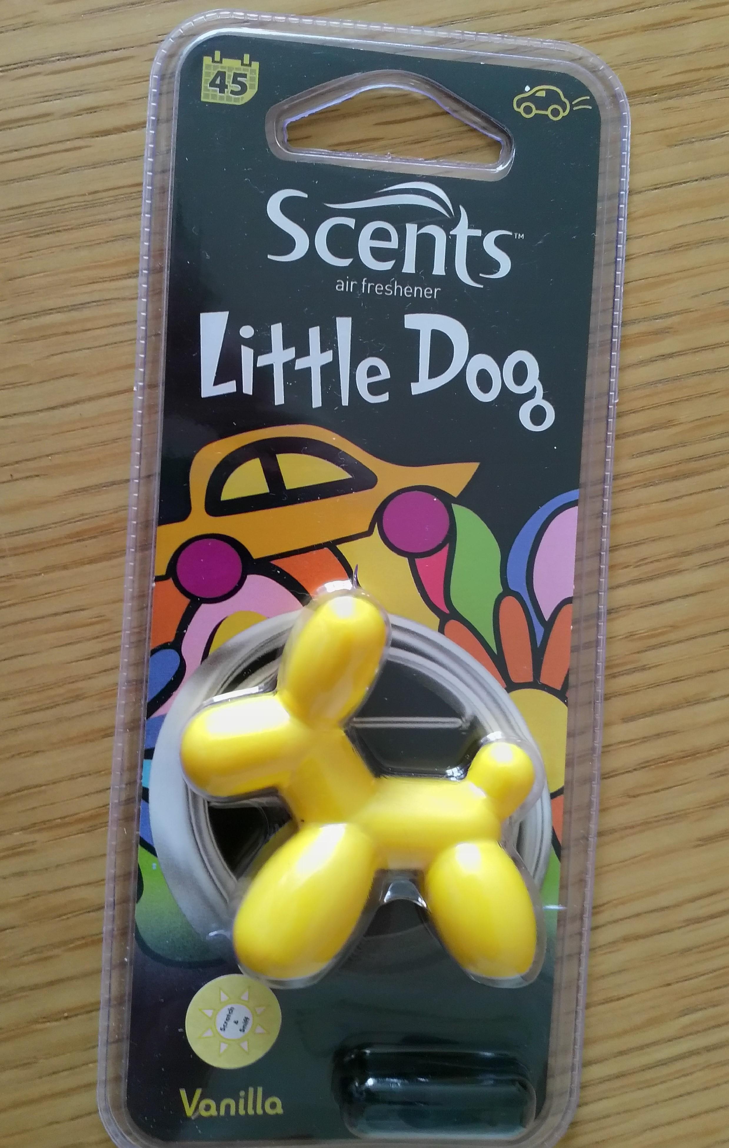 Scents Little Dog vanilla car air freshener 34p at ASDA