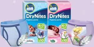 Free DryNites Sample Pack and £1 off Coupon