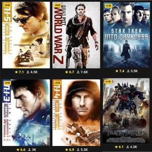 £1.99 UHD Movies to own using code @ Rakuten TV - 14 Movies to choose from / Max 5 per user