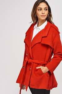 S (8-10) M (10-12) £5.00 Gorgeous Red Coat !! £8.95 delivered @ Everything5pounds