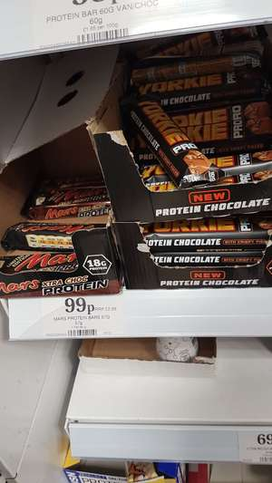 Mars 18g protein Bars / Yorkie 10g protein bars - 99p at Home bargains