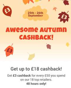 zeek - £3 cashback for every £50 you spend on our 18 top retailers