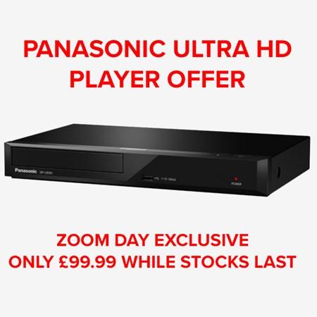 Panasonic: 4K Ultra HD Blu-ray Player (DP-UB391EB), £99.99 at Zoom.co.uk on 27th September (Pre-order)